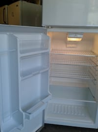 white single-door refrigerator null