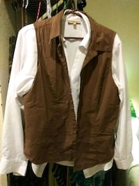brown and white zip-up jacket San Diego, 92101