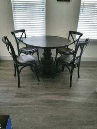 Pottery Barn kitchen table and RH chairs  East Islip, 11730