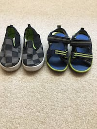 Two pairs size 6 toddler boys shoes Burnaby, V3J