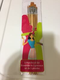 5 pack paint brush set. and i have more loose unused brushes too Fairfax, 22032