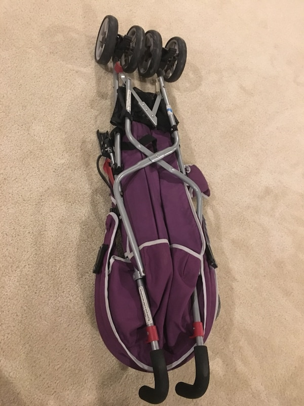 Black and Purple Stroller