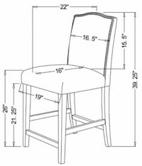3 Camelot Counter Height Stools