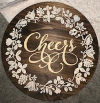 "Hand Painted Wooden Barnyard Decor ""Cheers"" Sign Omaha, 68137"