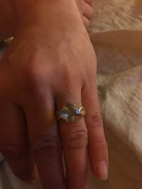 Aqua marine gold over 925 silver with matching earrings ! Casco, 04015