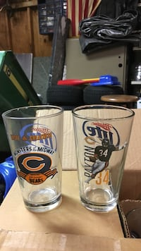 Bears beer glasses.  some have Walter Payton for all Lowell, 46356