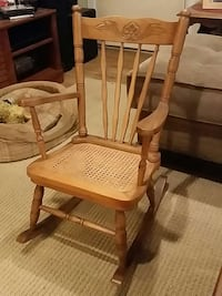 Vintage child size cane rocking chair