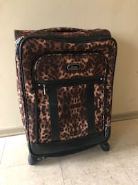 black and brown floral luggage bag Winnipeg, R2L 1P8