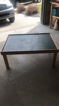 rectangular black wooden coffee table Calgary, T3G 5Z3