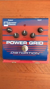 Seymour Duncan SFX-08 Power Grid Distortion Guitar Effects Pedal..