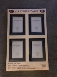 [4] BLACK 4X6 PICTURE FRAMES - BRAND NEW Portland