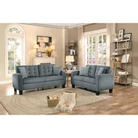 Sinclair Gray Sofa & Loveseat with Pillows - [Mont Houston