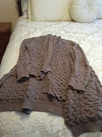 gray knitted cardigan Toronto, M3N 1E4