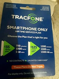 Tracfone smartphone only card