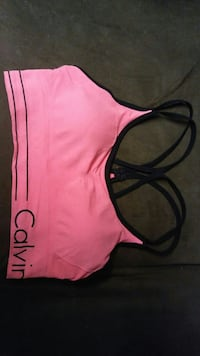 pink and black Calvin Klein gym bra Rainier, 97048