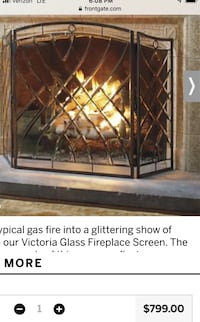 Victorian style beveled-glass fireplace cover Chesapeake, 23322