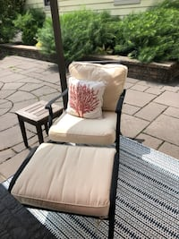 Outdoor chair and ottoman -aluminum