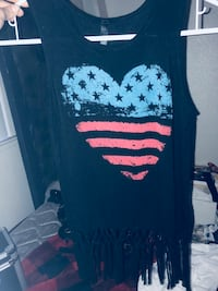 black and white scoop-neck sleeveless top Citrus Heights, 95610