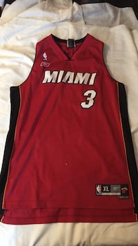 red and black Miami 3 jersey shirt