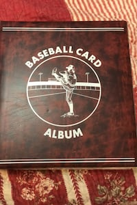 High quality Baseball card album with 22 sheets with cards and stars
