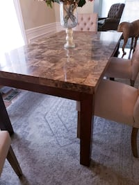 Faux marble table Centreville