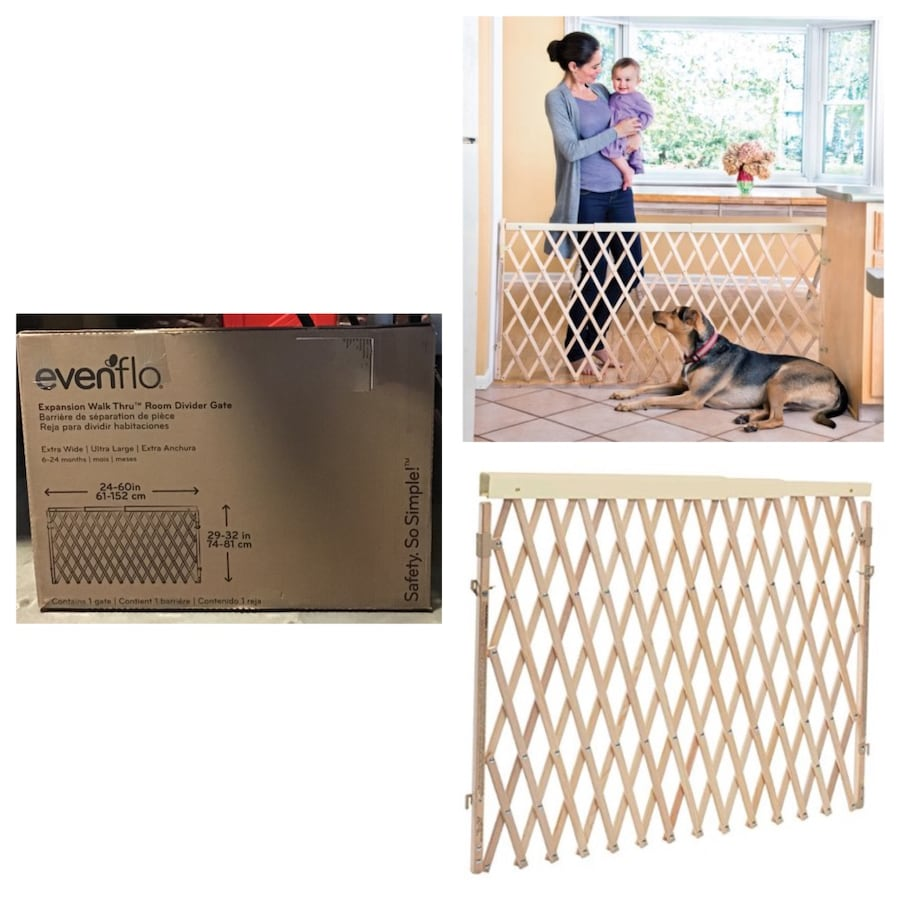 """Evenflo Expansion Swing Extra Wide Hardware Mount Gate, 24""""-60"""""""