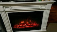 white and black electric fireplace Abbotsford