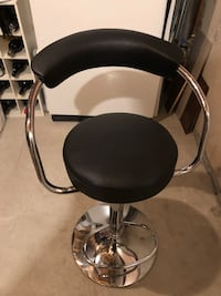 Black and gray leather padded bar seat Milton, L9T 5K9