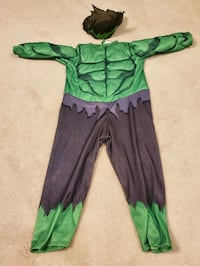 Hulk Deluxe costume size 3 Maple, L6A