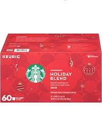 Starbucks Holiday Blend K cups 60 count  Evergreen Park, 60805