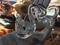 Beautiful four glass swan figurines West Covina, 91790