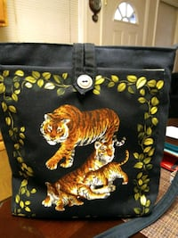 Handmade tiger bag