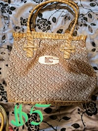 white and brown leather tote bag Marion, 62959