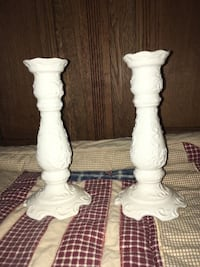 2 beautiful 8 inch ceramic candle sticks  Kettering, 45440