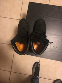 pair of black leather shoes Windsor Mill, 21244