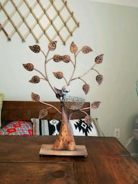 white and brown floral table lamp 44 mi