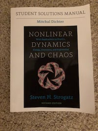 Nonlinear Dynamics and Chaos Student Solutions Manual Boston, 02115