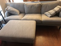 gray fabric 2-seat sofa Alexandria, 22306