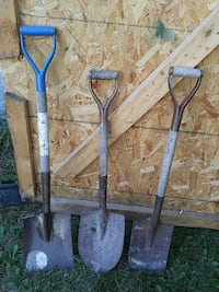 three brown steel shovels Winnipeg, R2K 1X9
