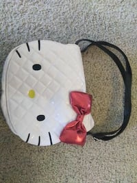 Quilted hello kitty leather crossbody bag