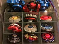 Metal Beyblades With Launchers and Carrying Case Ajax, L1T 1V1