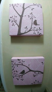 TWO Birds Wall Decor Canvases Kingston