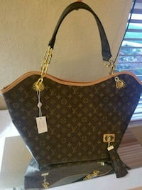 brown Louis Vuitton leather tote bag Davie