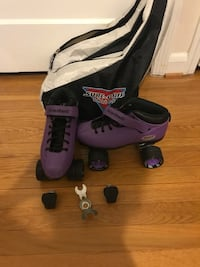 Purple riedell roller skates