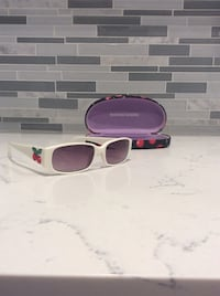 White sunglasses with case