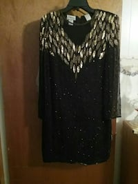 black and silver-colored long-sleeved sheath dress Lufkin, 75901