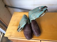 pair of brown leather cowboy boots Winnipeg, R2P 0K7