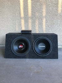 "12"" Subwoofer box with amplifier North Las Vegas, 89030"