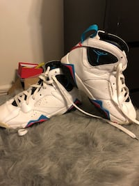 White-and-blue air jordan 7 shoes Tulsa, 74115