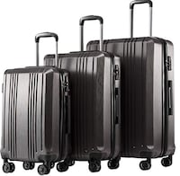 3 piece luggage set, only used once, still has factory lock code GERMANTOWN